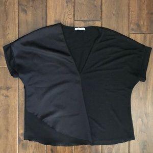 Zara Woven/Silky Blouse